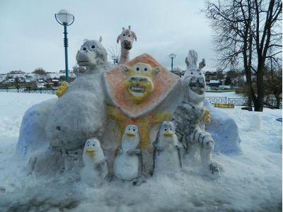 Конкурс снежных фигур